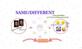 SAME/DIFFERENT