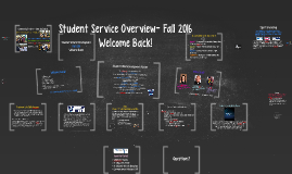 Copy of Student Service Overview- Fall 2014