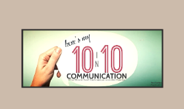 10 in 10: Communications
