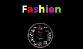 Fashion and how it has evloved.