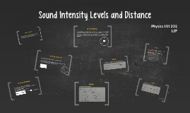 LO4: Sound Intensity Level and Distance