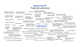 3. Possible solutions to eLearning PD