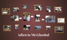 Farewell of Ghoshal Sir