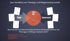Zum Verhältnis von Theologie und Religionswissenschaft –