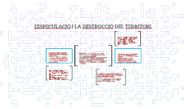 L'ESPECULACIÓ I LA DESTRUCCIÓ DEL TERRITORI.