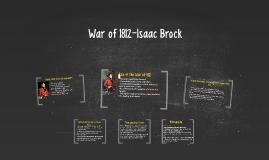 War of 1812-Isaac Brock