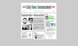 Daily News Announcement