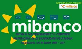 GESTIÓN DE LAS COMPENSACIONES Y EL COMPROMISO ORGANIZACIONAL EN LOS COLABORADORES DE LA AGENCIA PACHACAMAC I DE MI BANCO, LIMA – 2017