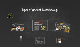 Types of Ancient Biotechnology