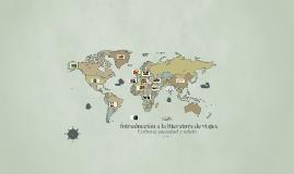 Introducción a la literatura de viajes