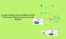 La alimentación de los estudiantes de la Universidad Hispano