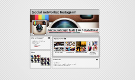 Social networks: Instagram