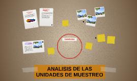 ANALISIS DE LAS UNIDADES DE MUESTREO