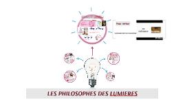 LES PHILOSOPHES DES LUMIERES