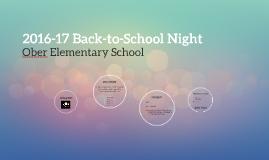 2016-17 Back-to-School Night
