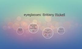 eyeglasses. Brittany Rickell