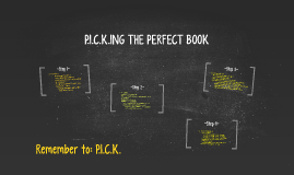 PICKING THE PERFECT BOOK