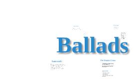 Y7 ballads