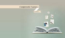 Competentie Examen 1