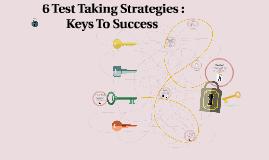 6 Test Taking Strategies