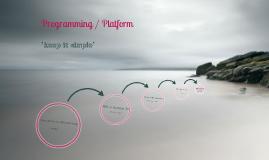 ProgrammingAndPlatform