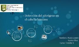 Deteccion del nitrógeno en el cabello humano