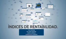 ÍNDICES DE RENTABILIDAD.
