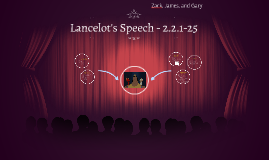 Lancelot's Speech - 2.2.1-25