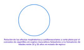 Relación de los efectos respiratorios y cardiovasculares a c