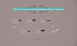 The 21st Century and Globalization Digital Timeline