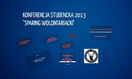 KONFERENCJA STUDENCKA 2013