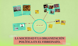 La sociedad y la organizaión política en el virreinato.