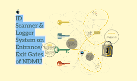 ID Barcode Logger System on Entrance&Exit Gates for NDMU Stu