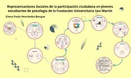 Representaciones Sociales de la participación ciudadana en j