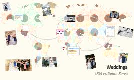 Weddings: USA vs. South Korea