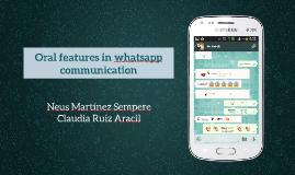 Oralidad en whatsapp