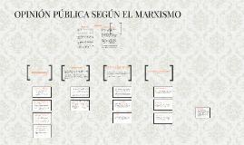 OPINIÓN PÚBLICA SEGÚN EL MARXISMO