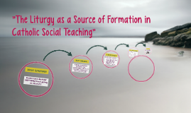"""The Liturgy as a Source of Formation in Catholic Social Tea"