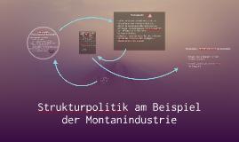 Strukturpolitik am Beispiel der Montanindustrie