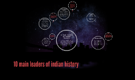 10 main leaders of indan history
