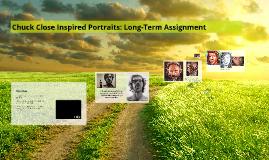 Copy of Portraits~ Chuck Close