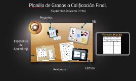 Planilla de Grados o Calificación Final