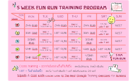 5 week fun run training program