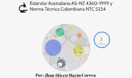 Estándar Australiano AS-NZ 4360-1999 y Norma Técnica Colombi