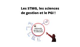 STMG, sciences de gestion et PGI