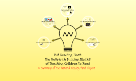 Put Reading First: Research Building Blocks of Teaching Children to Read