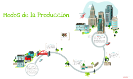 Modos de la Produccion