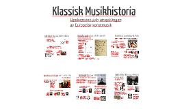 Klassisk Musikhistoria