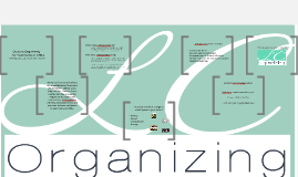 Creative Organizing