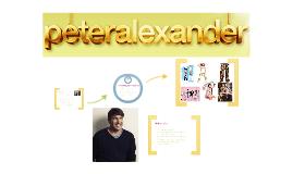 PETER ALEXANDER: PJ Extroadinare